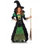 Disfarce de bruxa menina Halloween - Taille: 7-10 anos (122-128 cm)