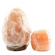 Lampa de sare Himalaya 1-2kg & candelă de sare Mica - Transport Gratuit