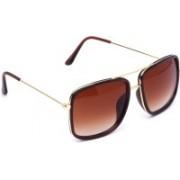 Hob Swiss Design Rectangular Sunglasses(Brown)