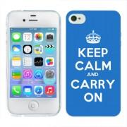 Husa iPhone 4S Silicon Gel Tpu Model Keep Calm Carry On