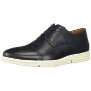 Driver Club USA Zapatillas de Piel para Hombre, diseño de círculos, Ligeras, con Puntera y Cordones Oxford, Navy Grainy, 7 US