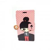 "Capa Protetora ""Flip Book Fashion Pink Girl"" BQ Aquaris 4.5"