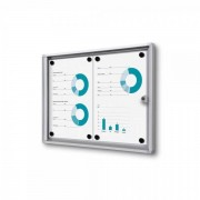 Jansen Display Interiérová vitrína Economy 2xA4, plechová záda, atest B1