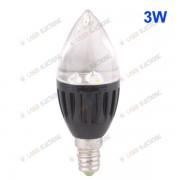 Lampadina a Led Bianco Caldo Attacco E14 - High Power 3X1W 3 Watt 220 Volt