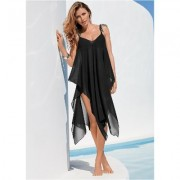 Braided TIE Strap Dress Cover-ups - Black