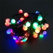 Instalatie pentru Craciun Multicolor RGB cu 80 LED-uri tip Globulete, Lungime 13m, 8 Moduri de Iluminare