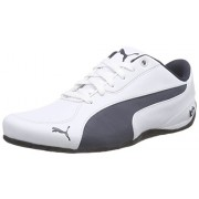 Puma Men's Bmw Ms Drift Cat 5 Nm 2 White and Bmw Team Blue Leather Safety Shoes - 12 UK/India (47 EU)