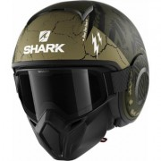 Shark Street-Drak Crower Casco Jet Nero Verde L