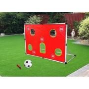 Set Joc de Fotbal pentru Copii cu Minge Pompa si Poarta cu Plasa si Banner pentru Antrenament