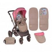 LORELLI kolica aurora rose&beige fashion girl 10020921746