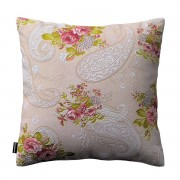 Dekoria Poszewka Kinga na poduszkę, róże na jasno beżowym tle, 50 × 50 cm, Flowers