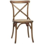 Sedia da interno TESR Struttura in legno Effetto anticato Seduta in rattan Modello 1188-HT36