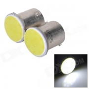 SENCART 1156 / Ba15s 3W 50lm 11000K 1-COB LED de luz blanca Cool Car Lamparas-Blanco (2 PCS / 12 ~ 16V)