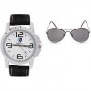 CALIBRO White-Black Men's watch Black Aviator Sunglass