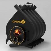 Печка на дърва Canada 02 със стъкло, 100л