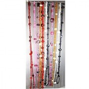 eshoppee set of 10 pcs assorted colors 36 inch glass seed beads designer necklace chain for women