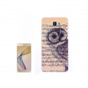 For Samsung Galaxy J7 Prime / On 7 (2016) Note And Owl Pattern Tpu Back Case