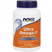 Рибено масло - Ultra Omega 3 Fish Oil - 90 дражета - NOW FOODS, NF1661