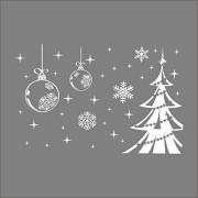 WZ YDTH Adhesivos Pared, Navidad Año Nuevo Copo De Nieve rbol De Navidad Sala De Estar Dormitorio Ventana Vidrio Etiqueta De La Pared