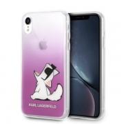 Karl Lagerfeld Choupette Fun iPhone tok (rózsaszín) - XR