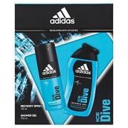Adidas Ice Dive 150ml Deodorant Spray + 250ml Gel de duș Set