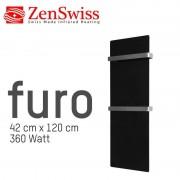 ZenSwiss furo (Farbe: Glanz Schwarz, Format: 42 x 120 cm)