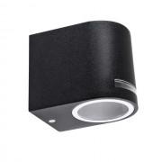 Novia fekete oldalfali LED kerti lámpa, szimpla, GU10