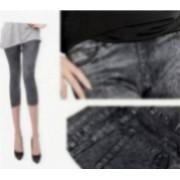 Pantaloni Colanti Tip Blugi Leggings 3 Sferturi pentru Dama Marime S-M Culoare Negru