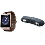Zemini DZ09 Smart Watch and Gibox G6 Bluetooth Speaker for SONY xperia J1 compact (DZ09 Smart Watch With 4G Sim Card Memory Card| Gibox G6 Bluetooth Speaker)