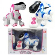 Toysntrendz I-Robot Dog Electronic I Robotic Remote Control Robot Interactive Talking Led Lights and Sound Move Barks Toy Pet Puppy (Pink)