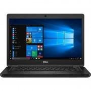 Laptop Dell Latitude 5480 14 inch Full HD Intel Core i5-7200U 8GB DDR4 500GB HDD Windows 10 Pro Black