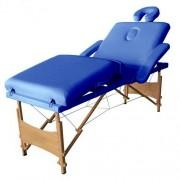 Masa masaj plianta - 4 sectiuni Lemn Albastru