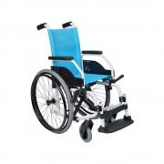 Orthos XXI Cadeira de Rodas Liga Leve Liliput Light 37 cm Azul Pé Esquerdo Pneumática (Enchida com ar) - Orthos XXI