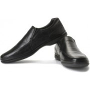 Clarks Finer Step Genuine Leather Slip On Shoes For Men(Black)