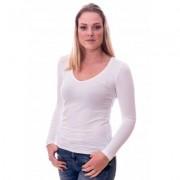 Claesens Women T-Shirt V-Neck l/s White ( 8011 )