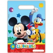 Goodie bags met Mickey Mouse opdruk 6 stuks