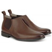 Clarks Amieson Top Tan Leather Boots For Men(Tan)