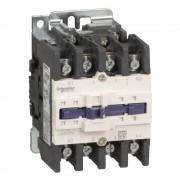 Schneider Electric, TeSys D, LC1D80008E7, Mágneskapcsoló, 125A (400V, AC1), 4 pólus, 2 Záró + 2 Nyitó főérintkező, 48V AC 50/60 Hz vezerlés, csavaros csatlakozás, TeSys D (Schneider LC1D80008E7)