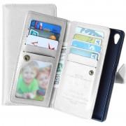Sony Xperia Z5, Xperia Z5 Dual Multifunctional Wallet Case - White