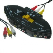 3-PORTS AUDIO/VIDEO AV SWITCH AUDIO VIDEO 3IN1 INPUT OUTPUT SWITCH SELECTOR HUB