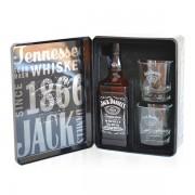 Jack Daniel's tin box 0.7 L + 2 pahare