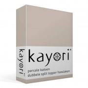 Kayori Shizu percale katoen dubbele split topper hoeslaken