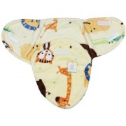 Ole Baby Baby Tiger Giraffe And Line Double Side Print Comfortable Swaddle Blanket Adjustable Infant Wrap With Velcro Closure Soft Furry.0-6 Months