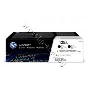 Тонер HP 128A за CM1415/CP1525 2-pack, Black (2x2K), p/n CE320AD - Оригинален HP консуматив - к-т 2 тонер касети