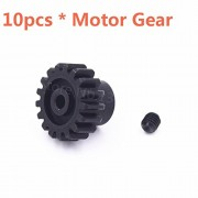 Generic 10Piece RC Car Wltoys Upgrade Metal Motor Gear 17T Spare Parts For 1/18 Scale Models A949 A959 A969 A979 k929 Remote Control Car