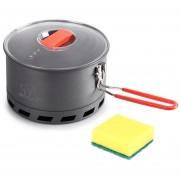 1.5LCook olla de cocina equipo al aire libre Senderismo Horn