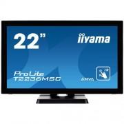 Monitor iiyama T2236MSC-B2, 22'', LCD, multidotekový, FullHD, AMVA, kapacitný, USB