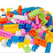 PRILLY ELEGANCE 88 Pieces Colorful DIY Mini Building Blocks Educational Kids Puzzle Construction Toy Similar to Lego