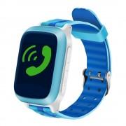 Ceas GPS Copii iUni Kid18, Telefon incorporat, Alarma SOS, 1.44 Inch, Blue