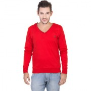Concepts Red Men's Full Sleeves Sweater